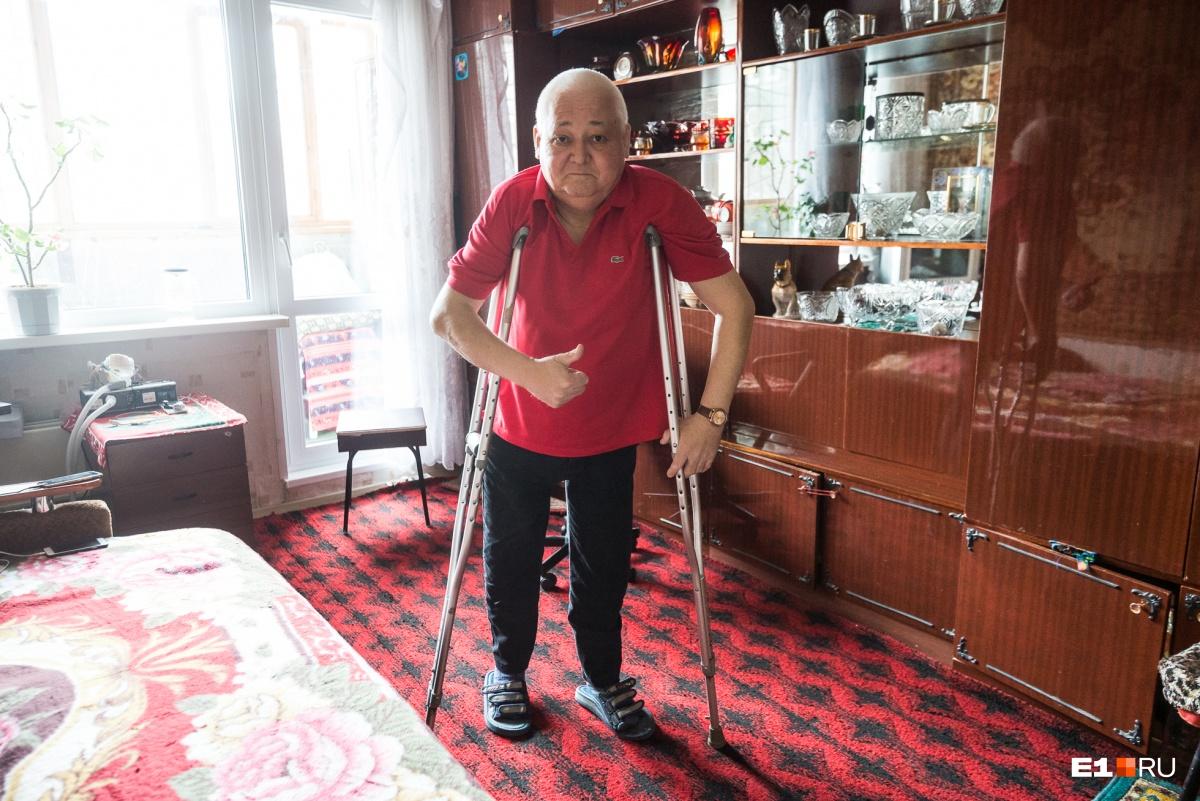 Рифат Зайнутдинов более 20 лет возглавляет свердловскую организацию больных гемофилией
