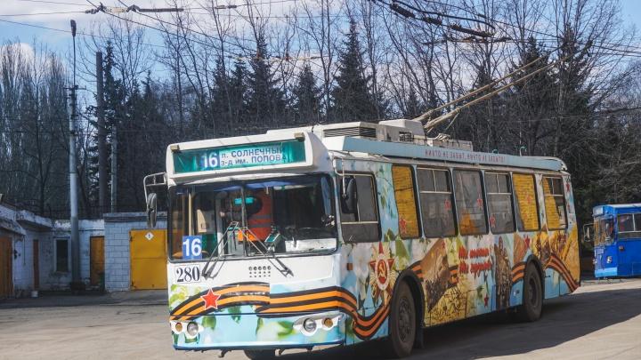 Омичи собрали деньги на ремонт контактной сети для троллейбусов на Ленинградской площади