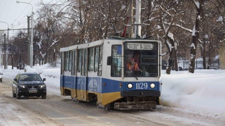 В центре Уфы возобновили движение трамваев