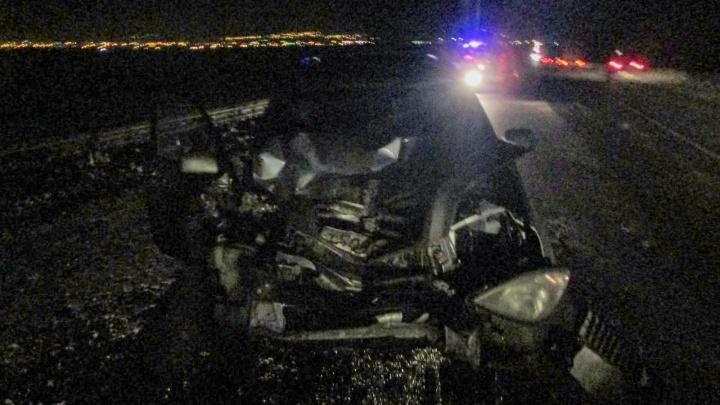 На М-5 в Самарской области иномарка влетела в трактор