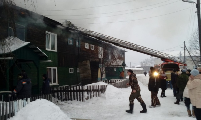 Пожар тушили 34 человека