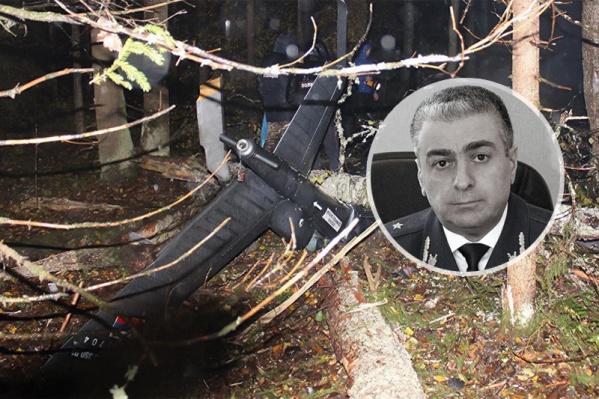 Вертолёт рухнул под Костромой