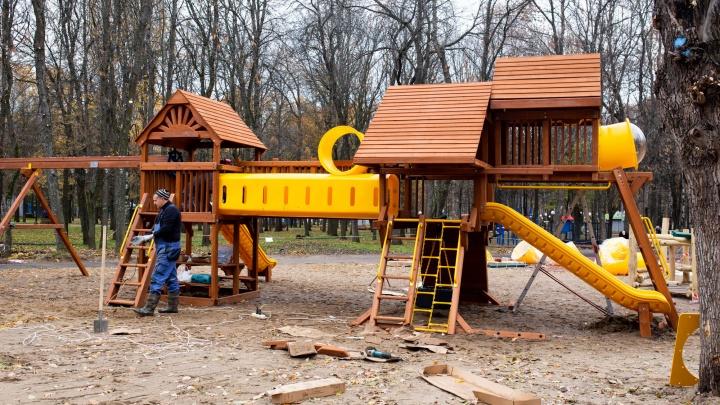 В «Юбилейном» парке вместо горки из грязи поставили новый городок: что опять не нравится ярославцам