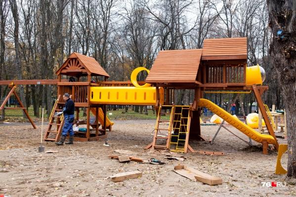 Новый городок в «Юбилейном» парке Ярославля