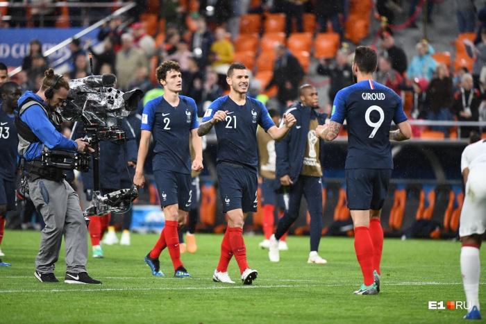 Французы  один из матчей провели в Екатеринбурге