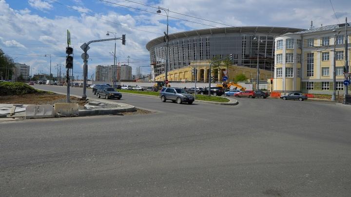 Улицу Репина у Центрального стадиона откроют к утру вторника