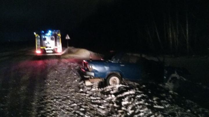 Два человека пострадали в ДТП с лесовозом в Котласском районе