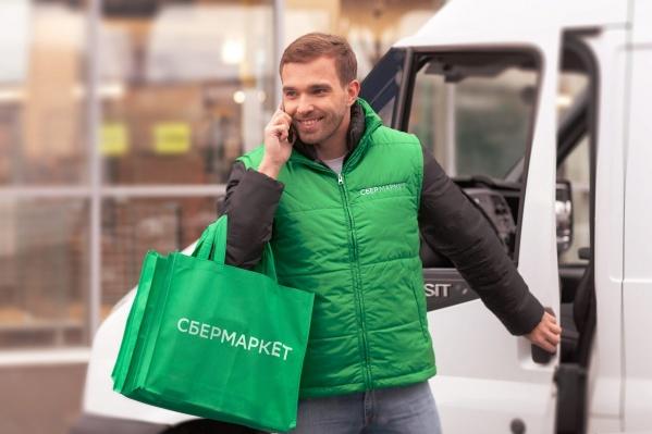 Курьеры «СберМаркета» доставят покупку до квартиры день в день в течение двух часов