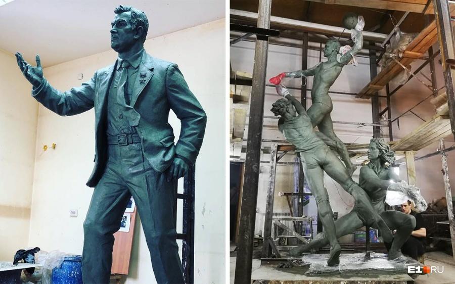 Общая высота скульптурной группы составляет порядка 6 метров