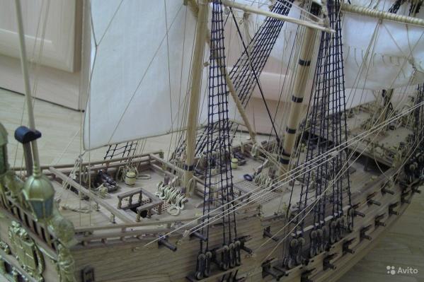 Создание модели корабля заняло полтора года
