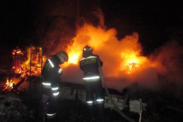 В пожаре погибли два человека