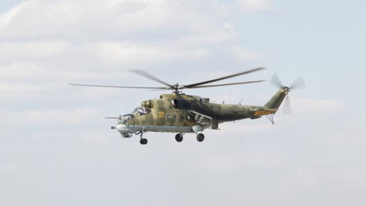 «Применили опыт Сирии»: боевые вертолёты обстреляли технику ракетами под Новосибирском