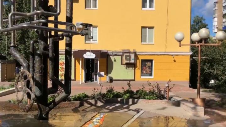 В Самаре фонтан в честь водопровода дал течь и затопил двор