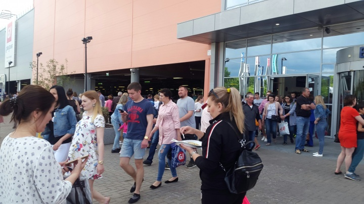 В Уфе эвакуируют торговый центр «Мега»