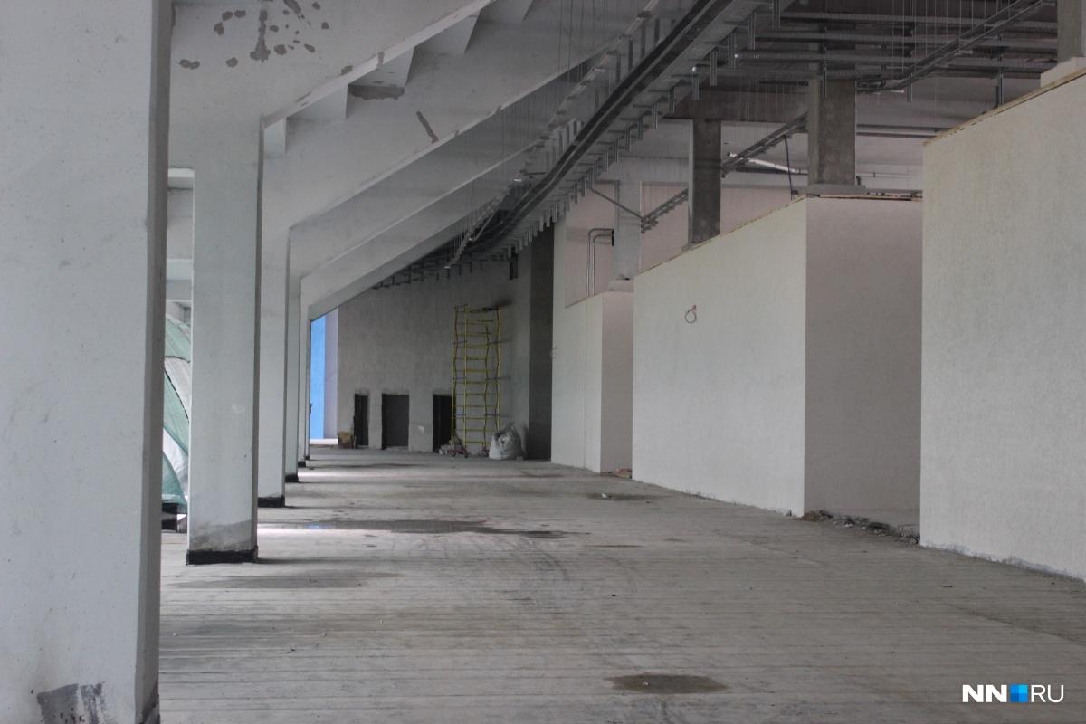 Вот так выглядят внутренние помещения стадиона.