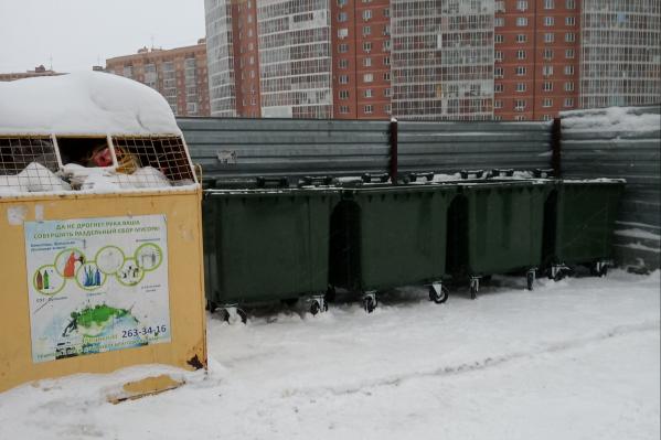 Новые мусорные евроконтейнеры от «Экология-Новосибирск»