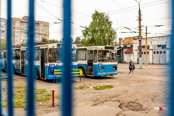 Старые троллейбусы «на пенсии» в депо