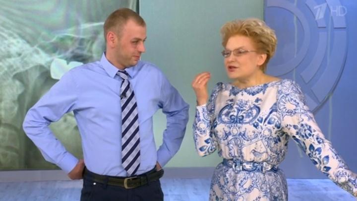 Житель Лесосибирска с болтом в голове попал к Малышевой на Первый канал и показал шрам