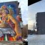 В Челябинске закрасили серой краской граффити с девушкой, встречающей гостей