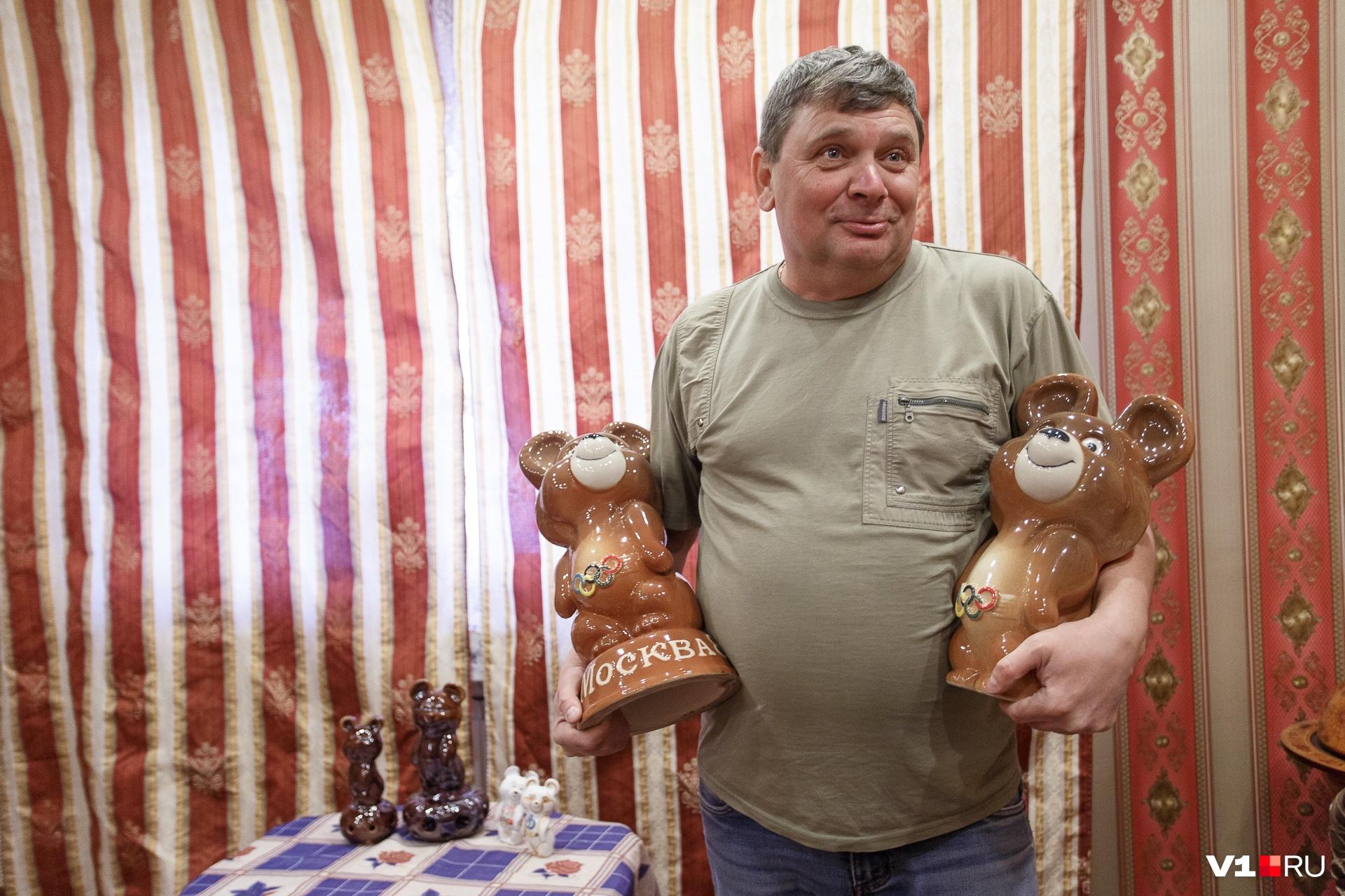 В Волгограде у спасателя осталась целая коллекция олимпийских мишек