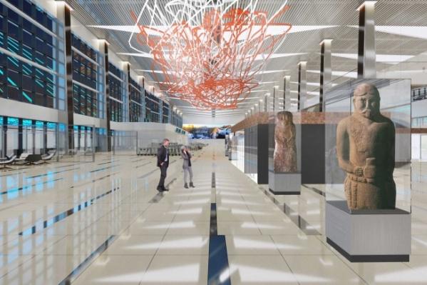 Оформление интерьера нового терминала