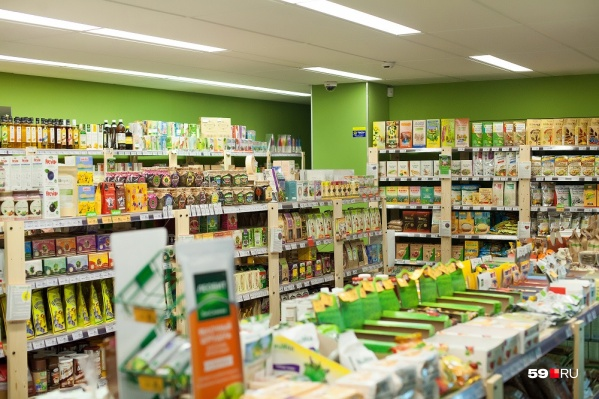 Торговая сеть специализируется на продаже продуктов здорового питания
