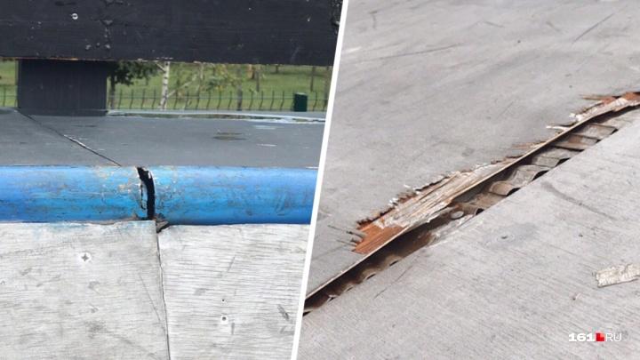 В Ростове в скейт-парке ДГТУ после ремонта разрушились спортивные объекты