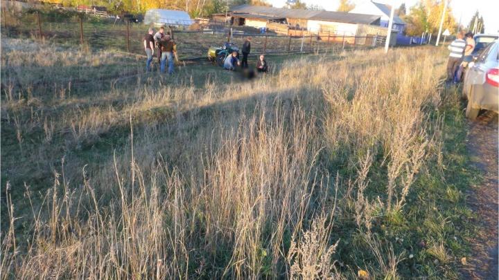 В Курганской области разбился насмерть пожилой мотоциклист