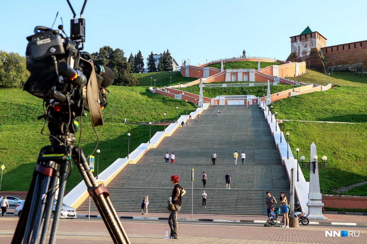 Съемки телешоу прошли у Чкаловской лестницы