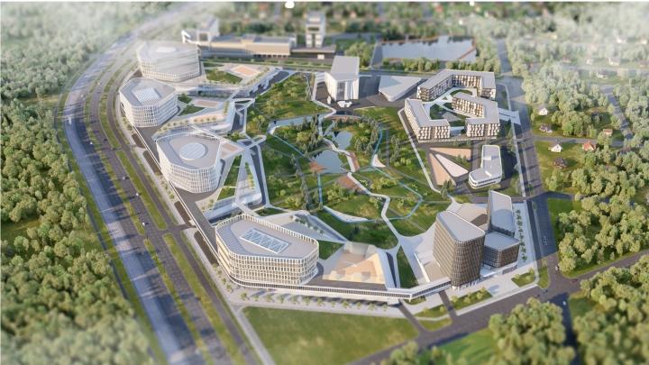 Екатеринбуржцев позвали обсудить проект офисного городка с общежитием и скалодромом