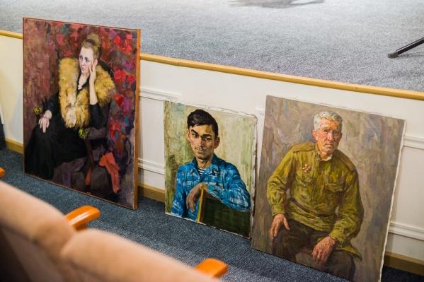 Три картины, которые подарил коллекционер Григорий Гапонов художественному музею на 60-летие