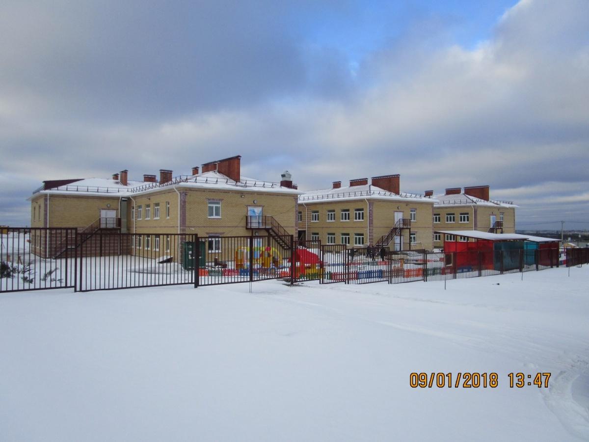 «Бережок» —современный детский сад на 240 мест с бассейном, расположенный на участке примерно в  3 000 квадратных метров