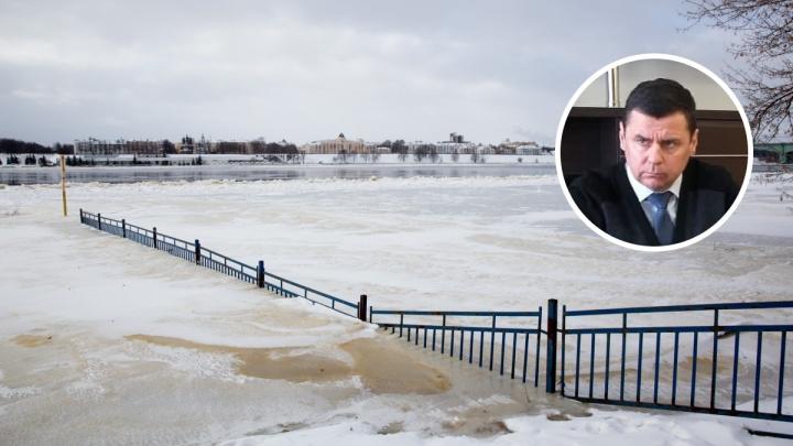 Губернатор Дмитрий Миронов оценит масштабы затопления Ярославля с вертолета
