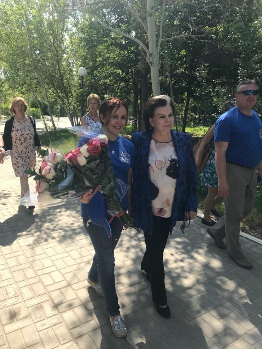 Жена Сергея Прокопьева Екатерина и первая женщина-космонавт Валентина Терешкова