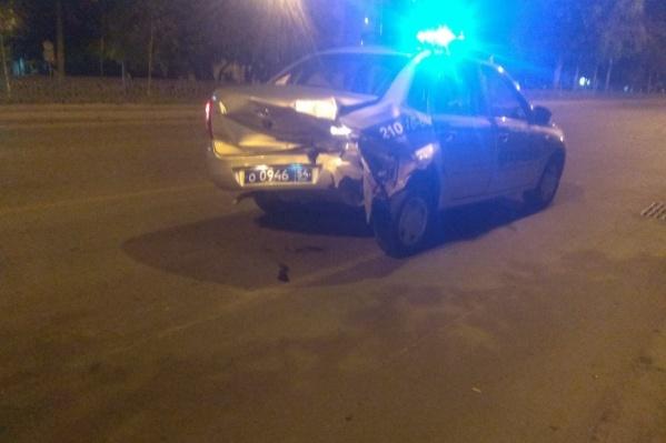 Обе машины получили серьёзные повреждения