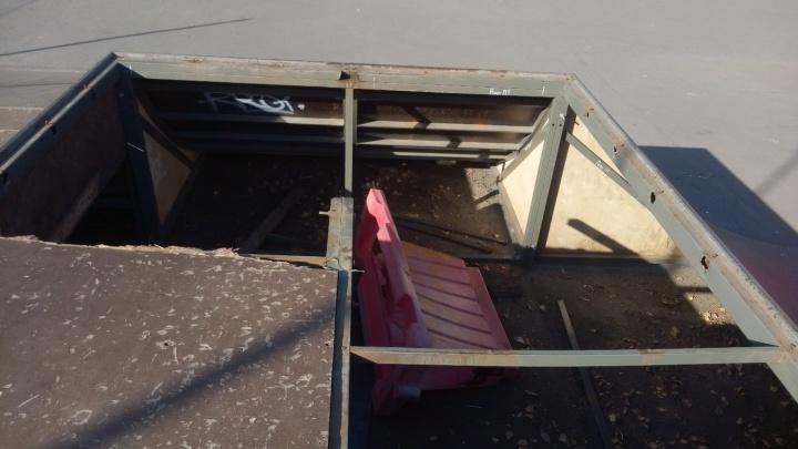 В Кургане из-за вандалов закрыли скейт-парк