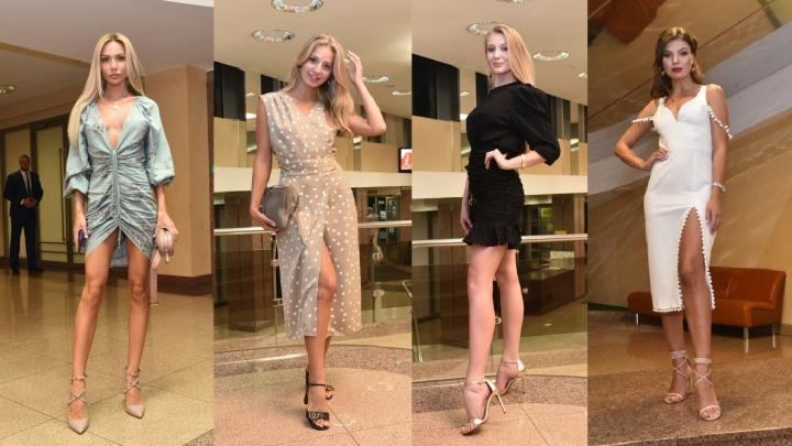 Яркие и сексуальные: 10 эффектных платьев представительниц бомонда на конкурсе «Мисс Екатеринбург»