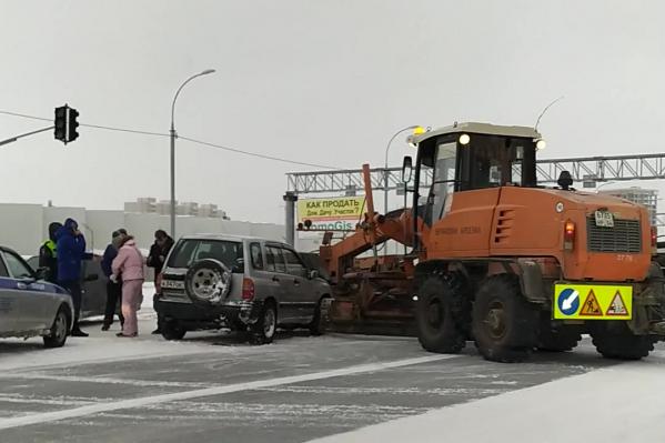 Авария произошла утром