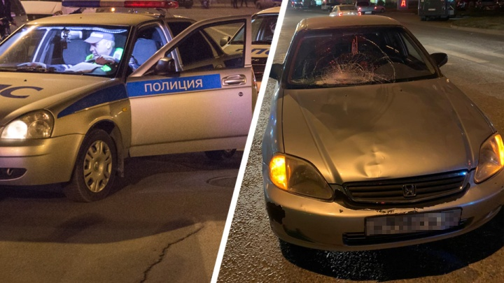 В Октябрьском районе водитель «Хонды» сбил женщину с коляской на пешеходном переходе