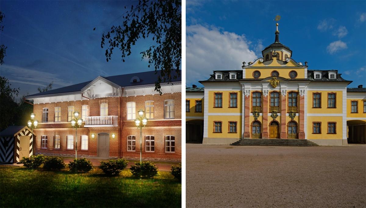 Слева — Новосибирск Справа — Германия