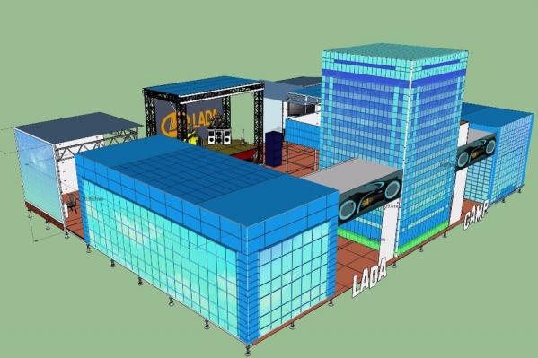 Площадь секции Lada Camp составляет 400 кв. м