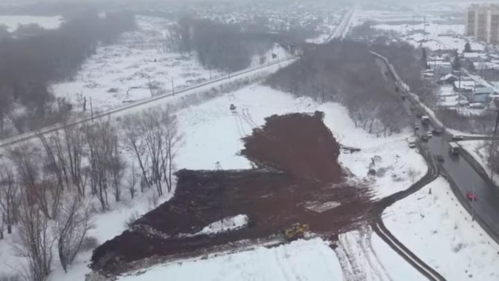 Видно, где пройдет дорога: самарский видеоблогер снял с высоты территорию Фрунзенского-2