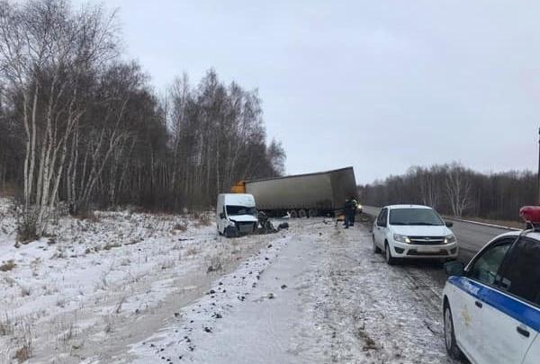 На трассе М-5 в Башкирии фура выехала на встречку: водитель второй машины в тяжелом состоянии