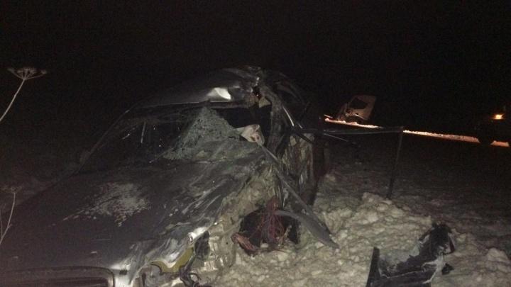 Вез на буксире: на трассе в Башкирии столкнулись грузовик и легковушка