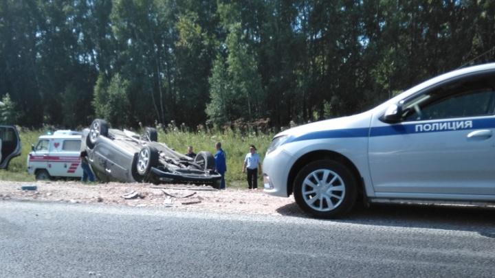 На трассе под Черепаново столкнулись три машины