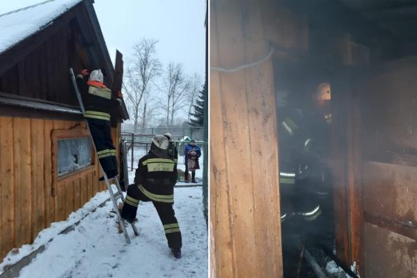 По предварительной информации, пожар начался из-за замыкания электропроводки<br>