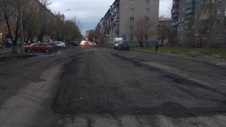 На улице Кирова в Кургане сделали ямочный ремонт