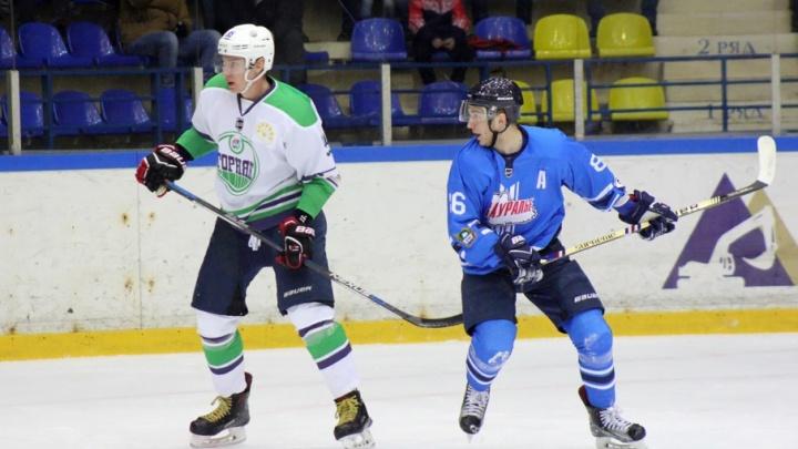 Хоккейный клуб «Зауралье» переиграл «Горняк» со счетом 3:1