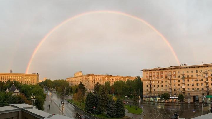 «Подарок задержавшимся на работе»: над Волгоградом раскинулась двойная радуга