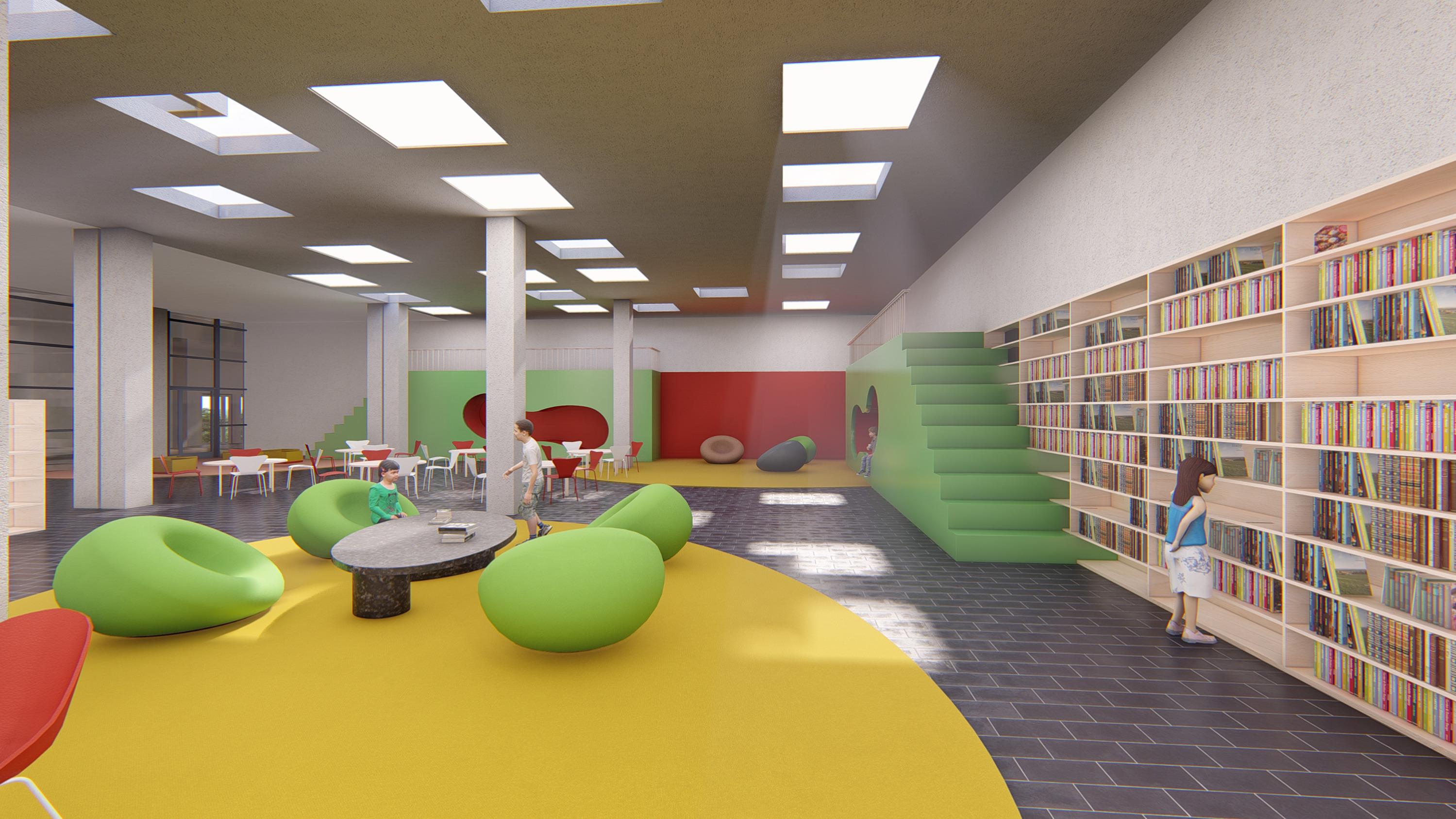 Интерьер библиотеки младших классов
